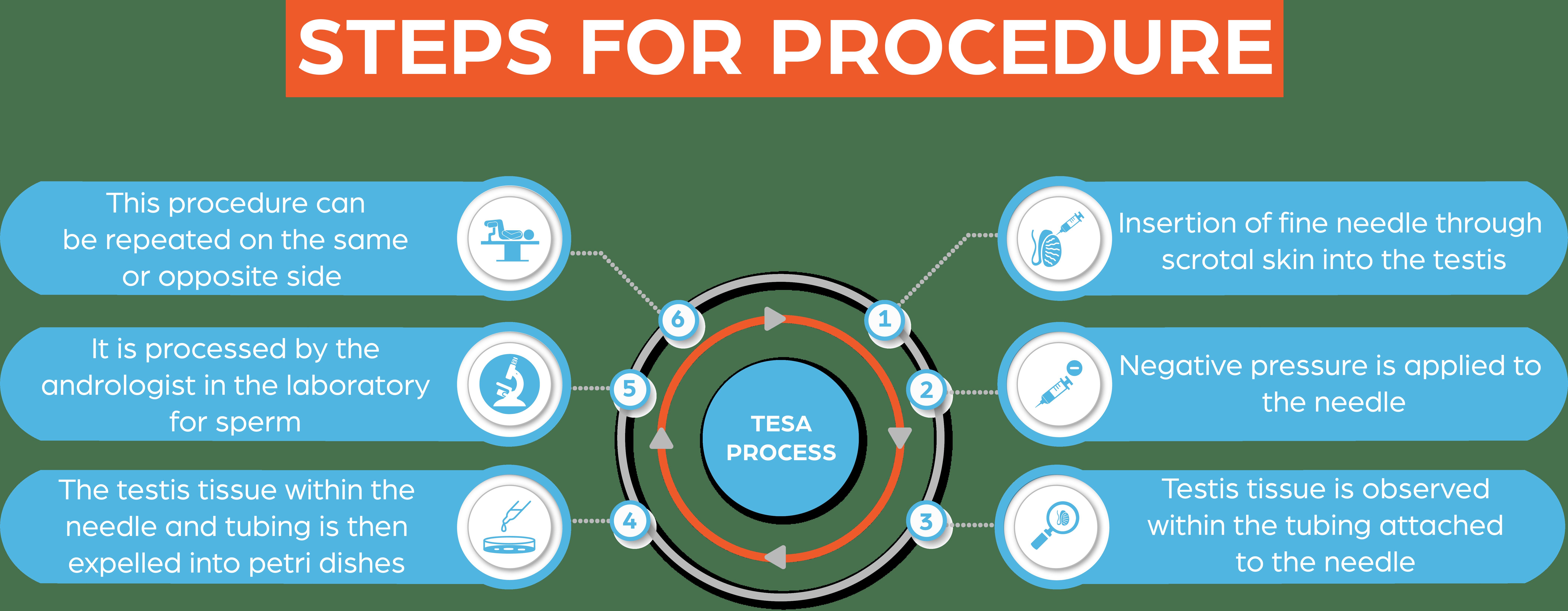 TESA - Steps for Procedure